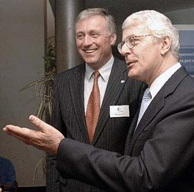 John Major and Mirek Topolanek, photo: CTK