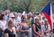 Kundgebung auf der Prager Kampa-Insel (Foto: Martina Schneibergová)