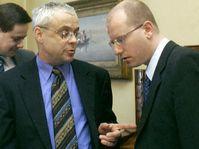 Vladimir Spidla et Bohuslav Sobotka (Photo: CTK)