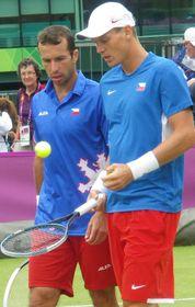 Radek Štěpánek et Tomáš Berdych, photo: Floflo62, CC BY-SA 3.0 Unported