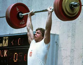 Czech weightlifter Otto Zaremba, Olympic Games Moscow, 1980, photo: CTK