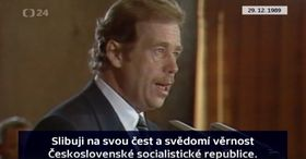 Václav Havel wurde am 29. Dezember 1989 Präsident der Tschechoslowakei (Foto: ČT24)