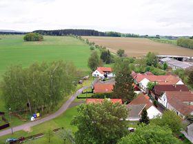 Kamen village, the view from the castle, photo: Wakowlk, CC BY-SA 3.0 Unported