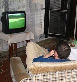 Una transmisión de un partido de fútbol