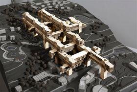 Нереализованный проект Карела Прагера для пражского района Коширже, визуализация (Фото: Национальный музей)
