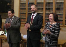 Víctor Hernández, Václav Hampl, Livia Klausová