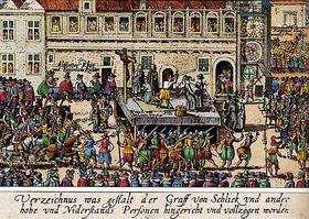 L'exécution des 27 seigneurs tchèques
