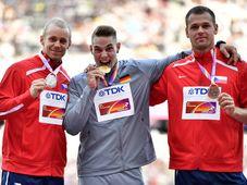Jakub Vadlejch, Johannes Vetter a Petr Frydrych, foto: ČTK