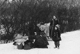 Flüchtlingsfamilie in Oberschlesien 1945 (Foto: Bundesarchiv, Bild 183-1990-0323-501 / CC-BY-SA 3.0)