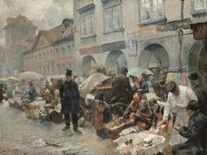 Luděk Marold, Vaječný trh v Praze, 1888, фото: Archiv Národní galerie v Praze