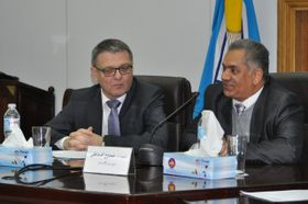Встреча Любомира Заоралека с египетским министром памятников древности и культурного наследия Мамдухом ад-Дамати