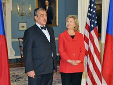 Karel Schwarzenberg, Hillary Clinton, photo: CTK