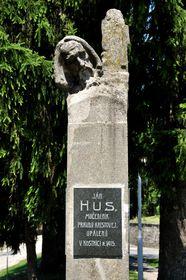 Husův pomník vBrezové pod Bradlom, foto: Tibor Kádek, Wikimedia Commons, CC BY 3.0