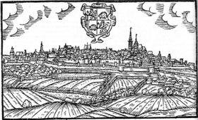 Jihlava v16. století, autor: Jan Willenberg, Wikimedia Commons, CC0
