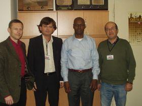 De izquierda:  Miroslav Krupicka, Gerald Schubert, Ramón Humberto Colás y Freddy Valverde