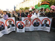 Demonstrace na Václavském náměstí, foto: ČTK