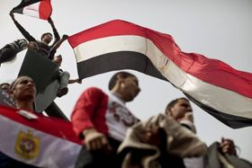 Protesters in Cairo, Egypt, photo: CTK