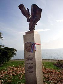 La statue de Jan Palach à Vevey