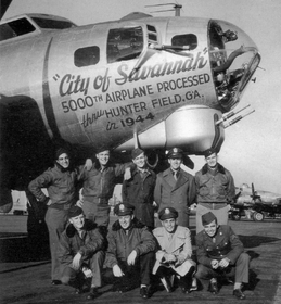 "Posádka bombardéru B-17G ""City of Savannah"", foto: archiv City of Savannah B17 Restoreation Project"