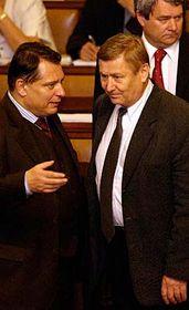 Jiří Paroubek aMiroslav Grebeníček (vpravo), foto: ČTK
