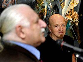 Milan Knížák y Michael Rittstein (Foto: CTK)
