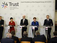 Viktor Orbán, Park Geun-hye, Bohuslav Sobotka, Beata Szydlo, Robert Fico, photo: ČTK