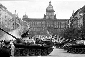 Soviet troops in Prague in August 1968