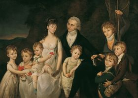 Barbara Krafft: The family of Anton von Marx, Wikimedia Commons, Public Domain