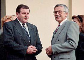 Václav Klaus (right) with Vladimír Mečiar in 1992, photo: CTK