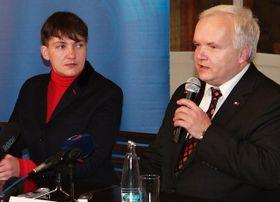 Надежда Савченко и Павел Свобода, Фото: Ондржей Томшу, Чешское радио - Радио Прага
