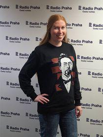 Анна Кочергина на Радио Прага, Фото: Милош Турек, Чешское радио - Радио Прага