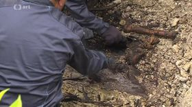 L'exhumation de Casimir Oberfeld à Přelouč, photo: ČT