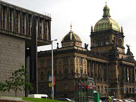The former parliament building and the National Museum