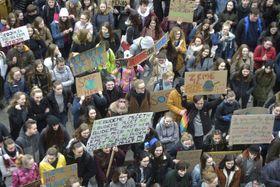 Manifestation des édudiants, photo: ČTK/Jaroslav Ožana