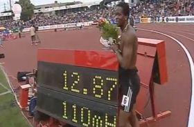 Dayron Robles de Cuba realizó la plusmarca mundial en Ostrava, foto: ČT 24