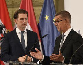 Sebastian Kurz a předseda vlády ČR Andrej Babiš