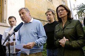 Předseda ODS Mirek Topolánek (druhý zleva) amístopředsedové Petr Nečas (vlevo), Petr Bendl aMiroslava Němcová, foto: ČTK