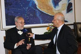 Entrevista a Oldřich Kašpar para Radio Praga, foto: Archivo de la Embajada de México en Praga
