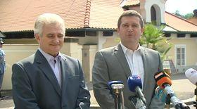 Глава Палаты депутатов Ян Гамачек и глава Сената Миланом Штехом (Фото: ЧТ24)