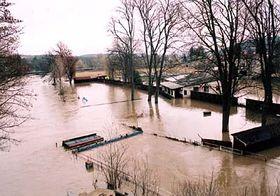 Inundaciones en la localidad de Cercany