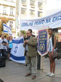 Томаш Краус на акции в поддержку Израиля, Фото: Мартина Шнайбергова, Чешское радио - Радио Прага