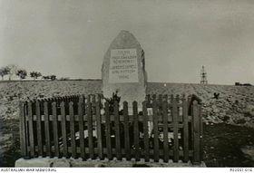 The memorial of Lawrence Saywell, photo: Australian War Memorial, Public Domain