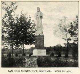 Husův pomník na Long Islandu