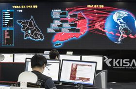 Employees watch electronic boards to monitor possible ransomware cyberattacks at the Korea Internet and Security Agency in Seoul, South Korea, photo: CTK