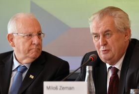 Miloš Zeman y Reuven Rivlin, foto: ČTK