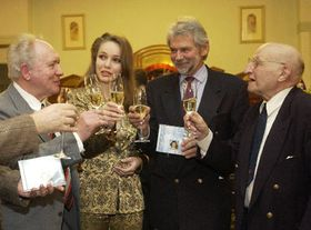 Frantisek Babický, Gabriela Kopperová, Tomas Kolowrat y Felix Nevrela, foto: CTK