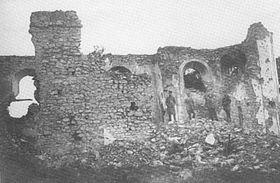 Mladá - ruinas de la iglesia (años 30)