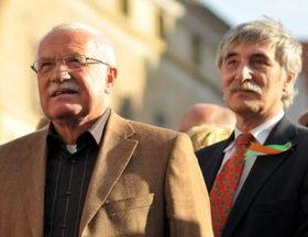 Václav Klaus y Ladislav Bátora
