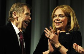 Václav Havel with his wife Dagmar in 2011, photo: ČTK