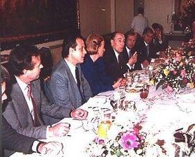 Le petit-déjeuner au Palais Buquoy le 9 décembre 1988